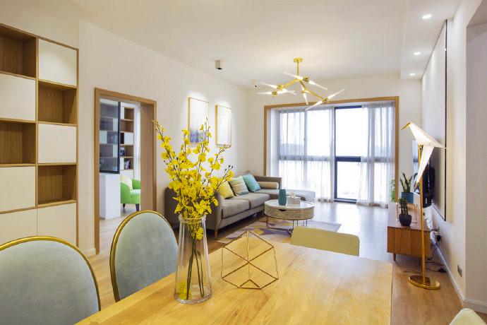98㎡北欧风格家居设计,舒适减压的空间氛围