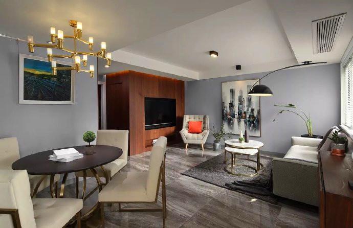 100㎡灰调简约风格家居设计,大气不张扬的品质感